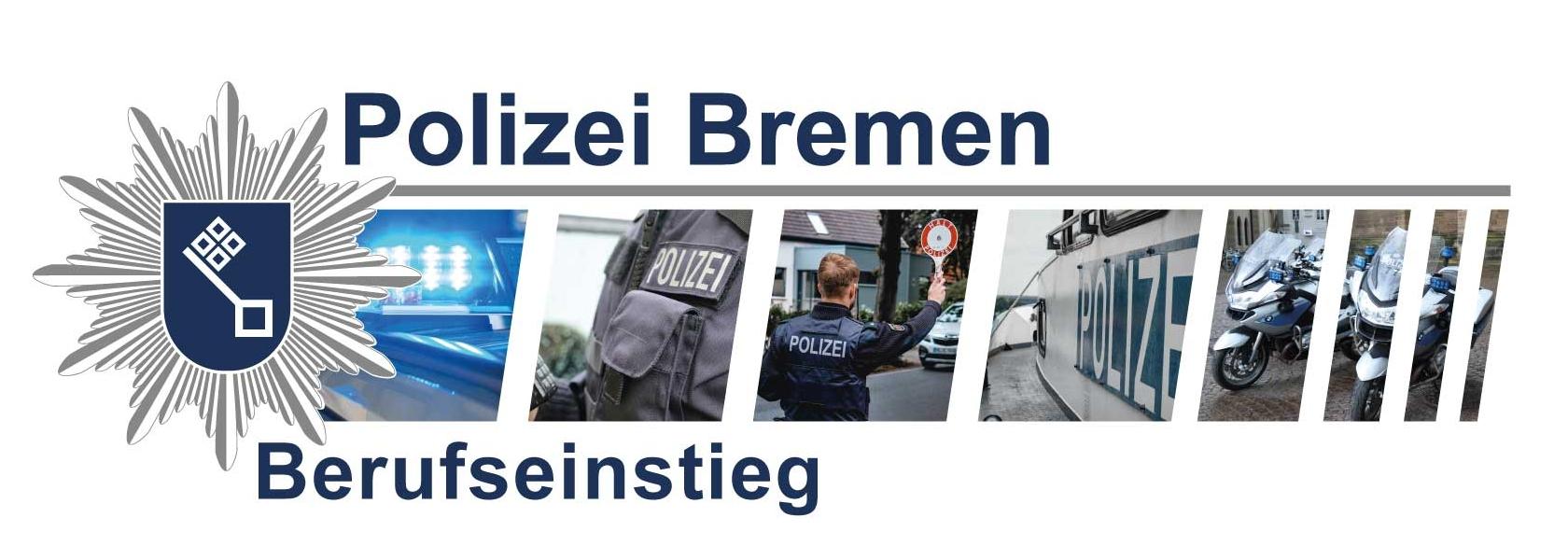 Grafik zeigt eine Werbefoto der Polizei Bremen zum Berufseinstieg