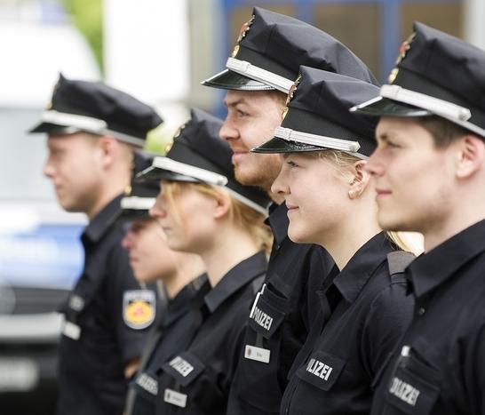 Gruppenbild von Polizeibeamten